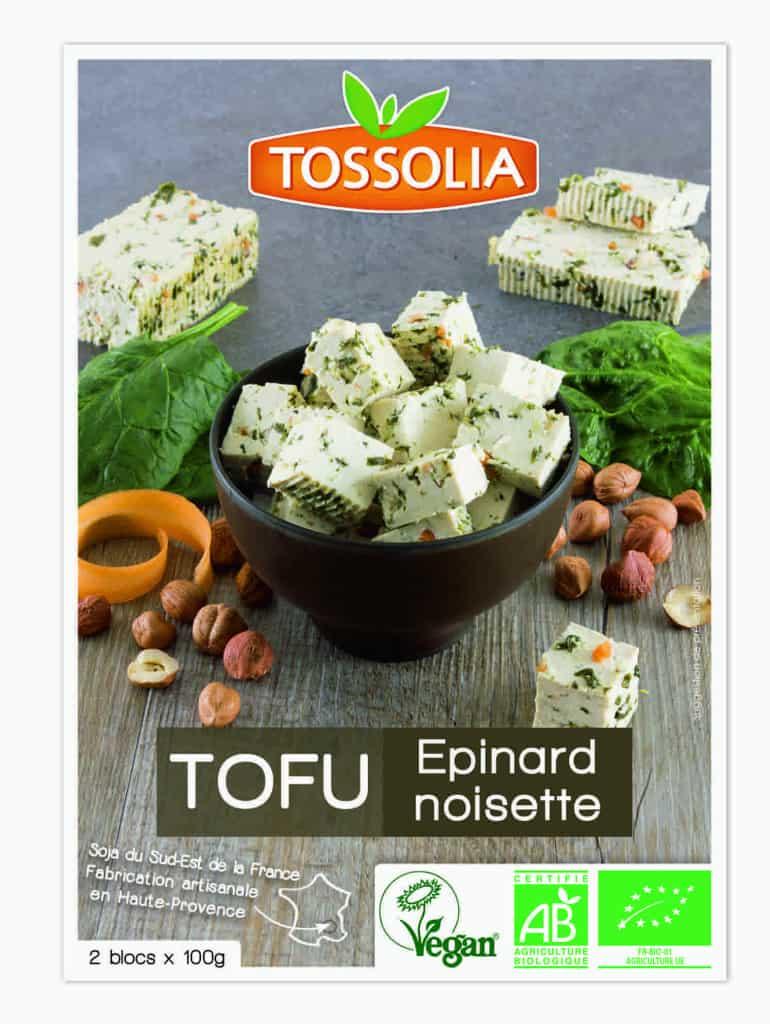 Tossolia Tofu Epinard noisette