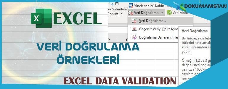Excel Veri Doğrulama Örnekleri