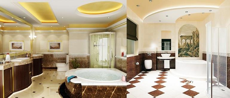Как самому сделать потолок из гипсокартона в ванной комнате