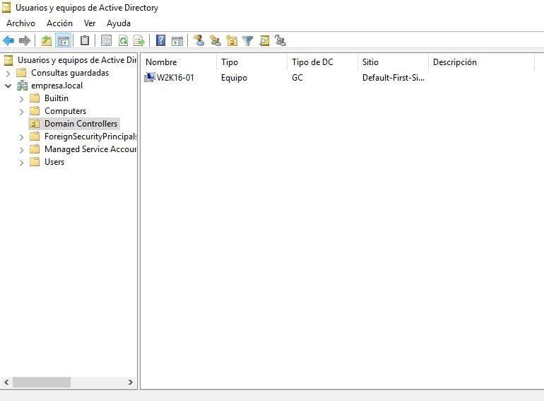 """consola """"Usuarios y Equipos de Active Directory"""""""