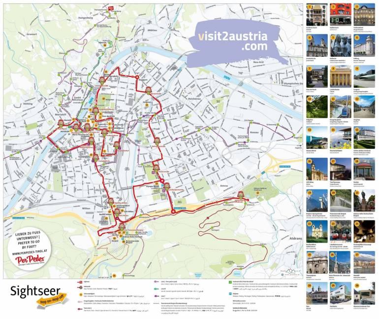 Карта туристического автобуса Инсбрук
