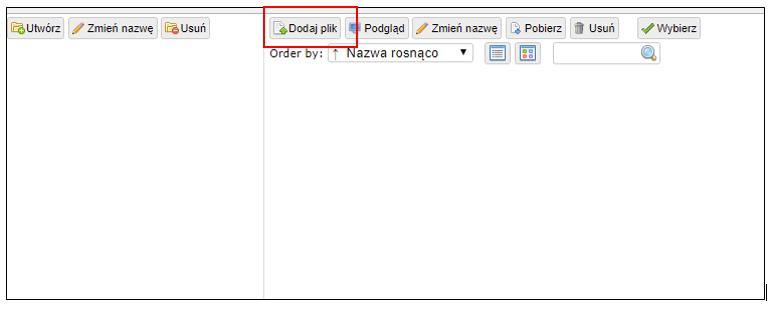 przeglądarka plików umożliwiająca zalogowanym użytkownikom z odpowiednimi uprawnieniami (przetestowane konto administratora) także ich wgranie (w tym skryptów wykonujących komendy na systemie)