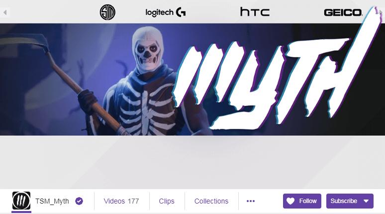 TSM_Myth Twitch Streamers