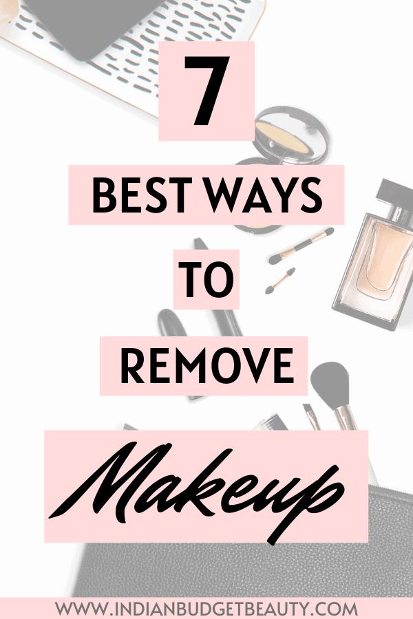 best ways to remove makeup