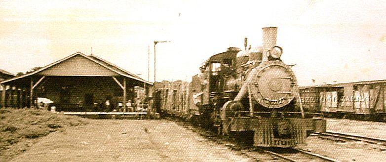 Tren en la estación de Coatepeque