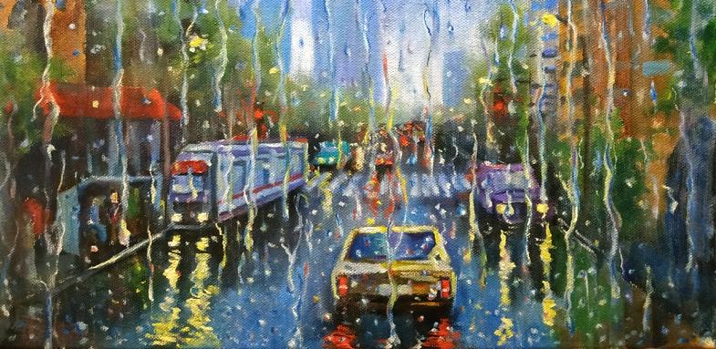 Как рисовать дождь