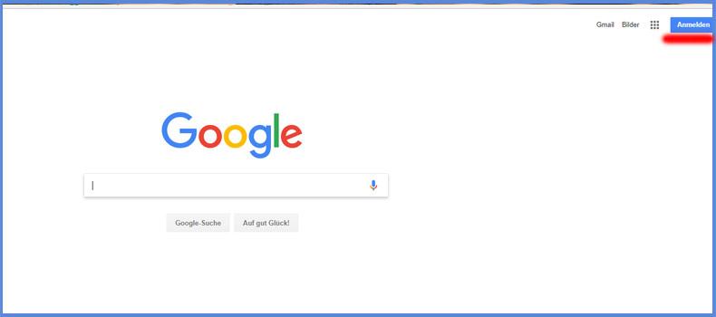 Schritt 1: Anmeldung bei Google