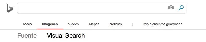 Buscador de imágenes de Bing