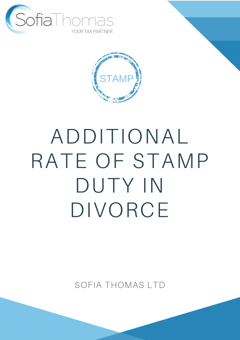 Additional Rate of Stamp Duty in Divorce