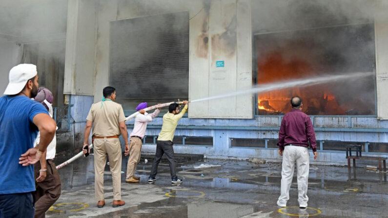 Siniestro en la India
