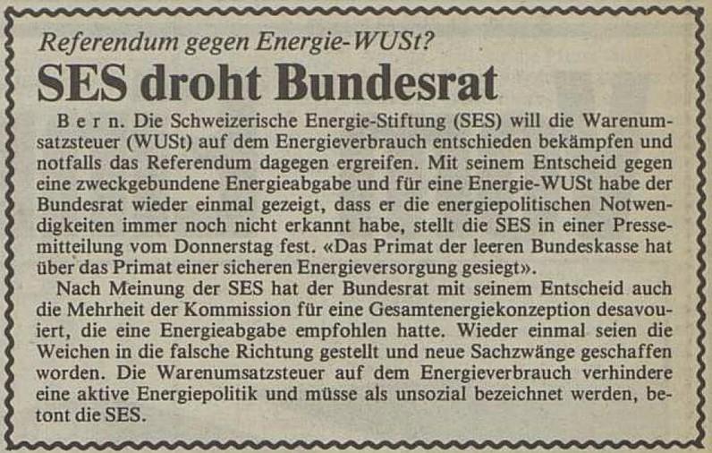 Artikel im Walliser Boten vom 24. Oktober 1980