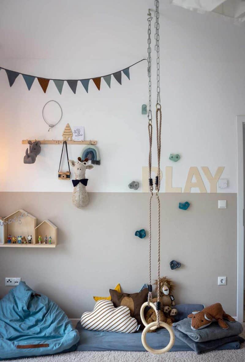 Turnringe im Kinderzimmer