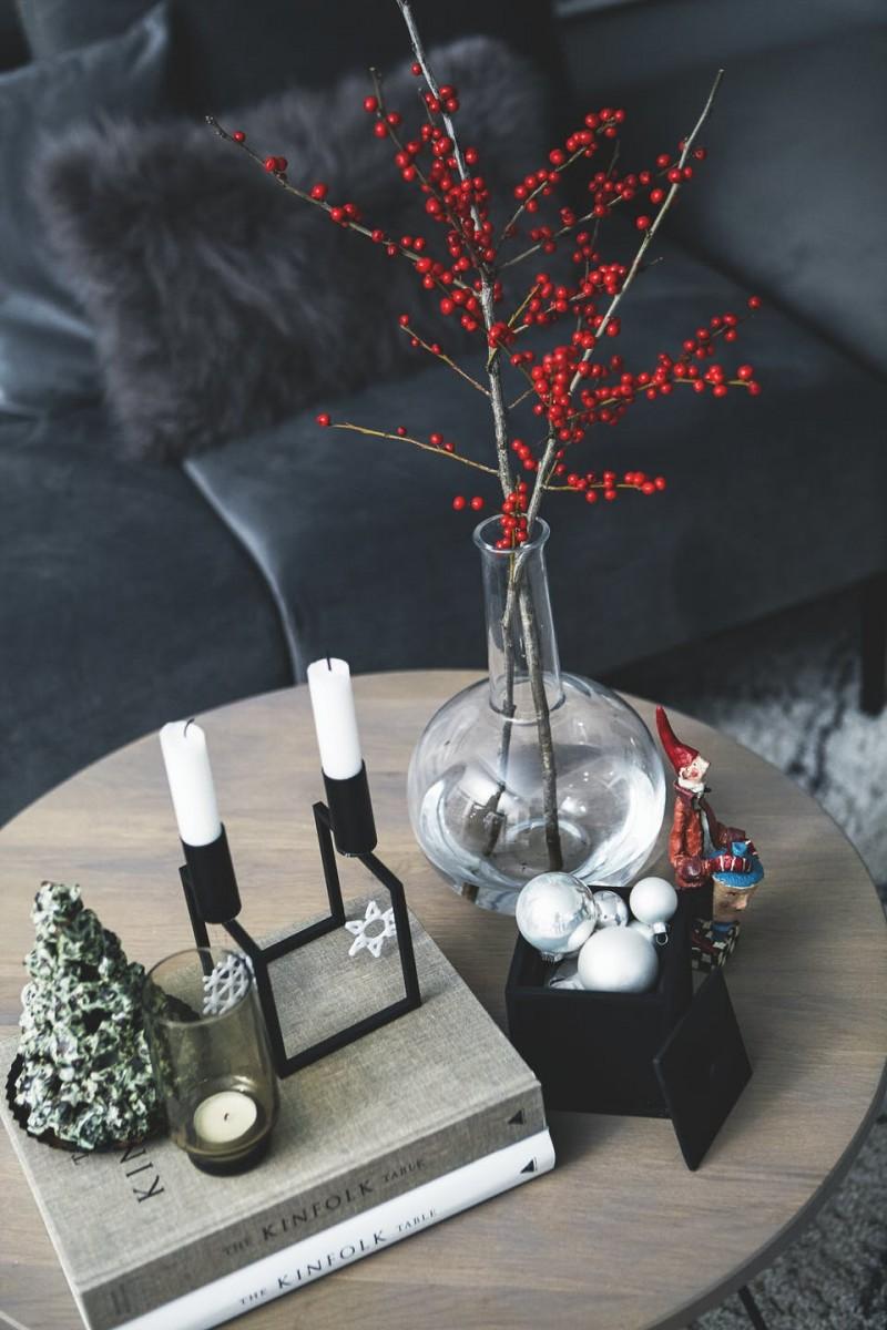 Decoración navideña nórdica discreta