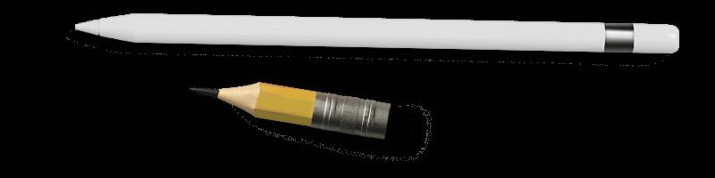 Digital och högst analog blyertspenna - typiskt ritmaterial här på Formdianiel AB.