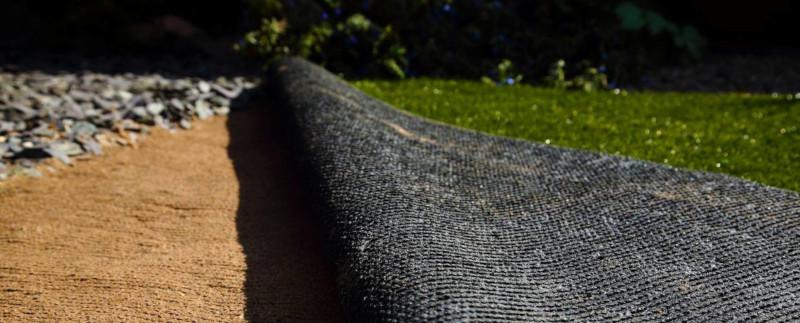 La trame d'une pelouse artificielle