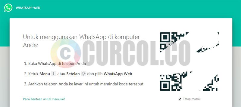 tampilan situs whatsapp web
