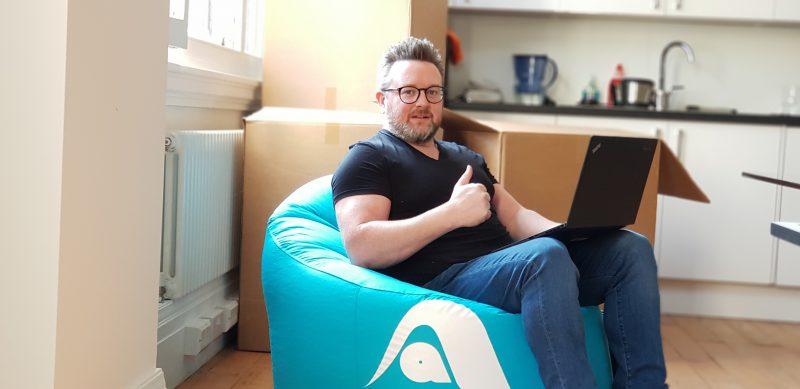 Martin Keelagher on Agile Automations Bean Bag