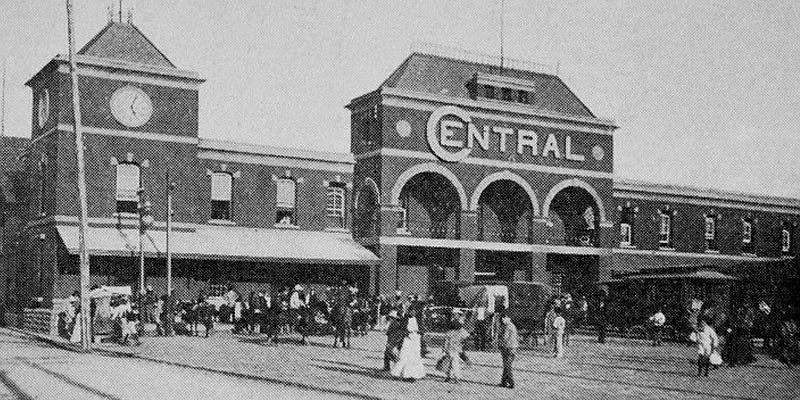 Estación Central del Ferrocarril en Ciudad de Guatemala
