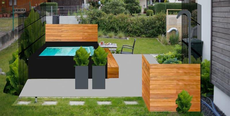 Garten Pool Planung für einen Intex Aufstellpool