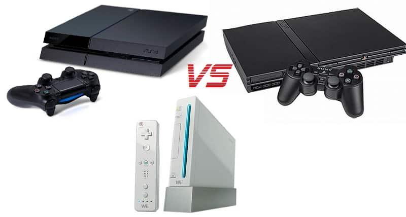 PS4 vs Wii vs PS2