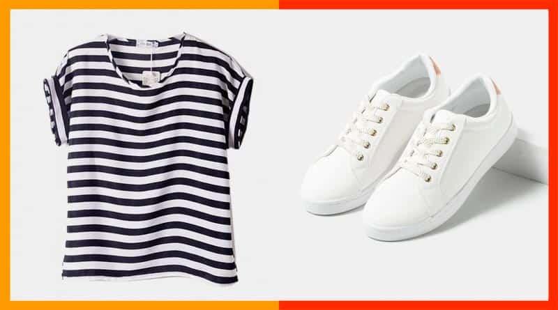 La combinación perfecta entre zapatillas deportivas de mujer y camisetas