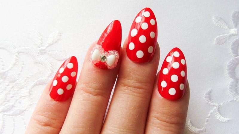 Cute almond shape nails