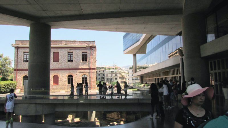 Acropolis Museum front door entrance