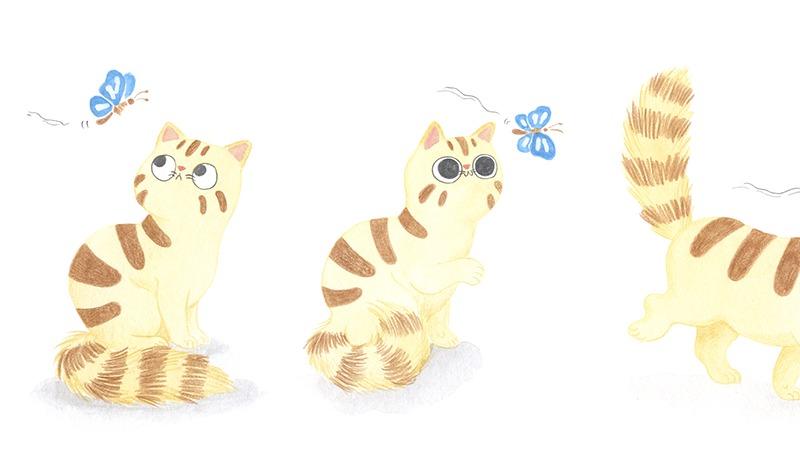 El Tren Blau, Marta Dujovne, cruïlla, ilustración infantil, ilustración para niños, libros para primeros lectores, ilustración de gato, gato jugando,