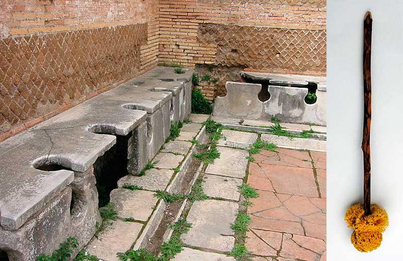 Retrestes en Ostia y su correspondiente xilospongio