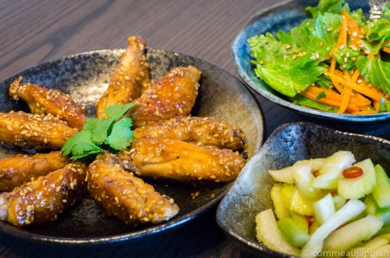 Tebasaki - Ailes de poulet sauce soja caramélisée et graines de sésame