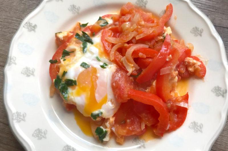 Jajka z pomidorami i papryką czyli szakszuka
