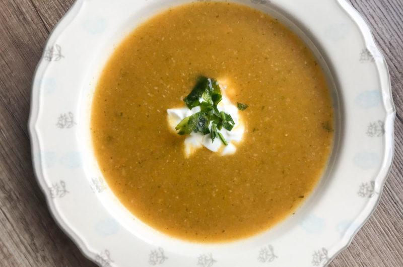 Zupa krem ze zmiksowanych warzyw z rosołu