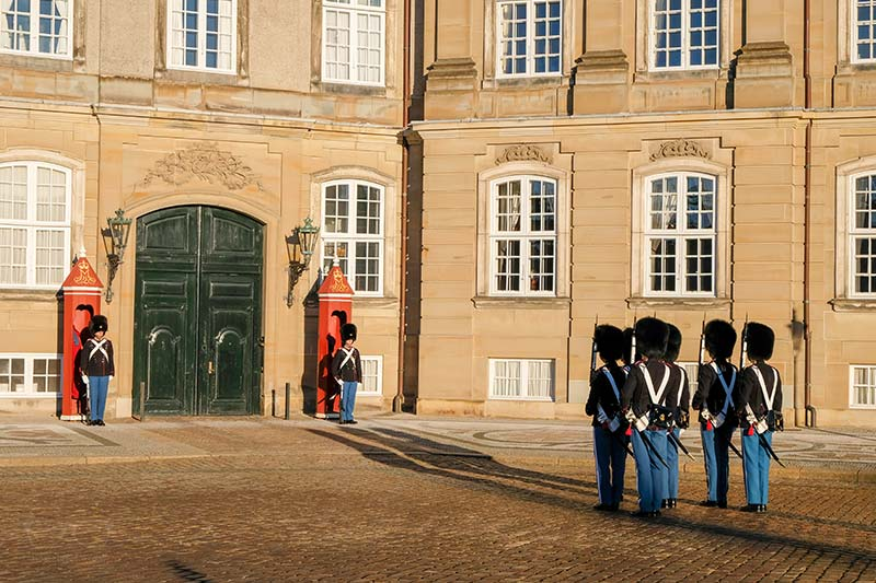 Change of Guards at Amalienborg palace in Copenhagen