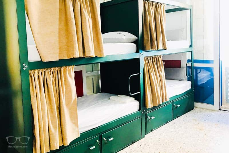 Dorm with Curtains and a splash of luxury and Urban Jungle Hostel