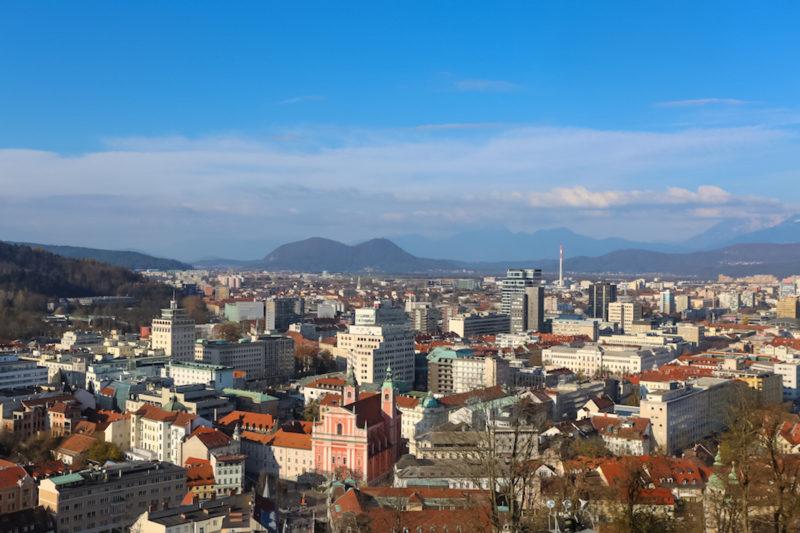 panoramic view of Ljubljana in slovenia