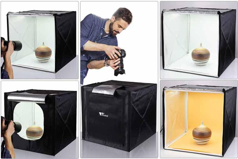 Caja de luz para fotografía de productos