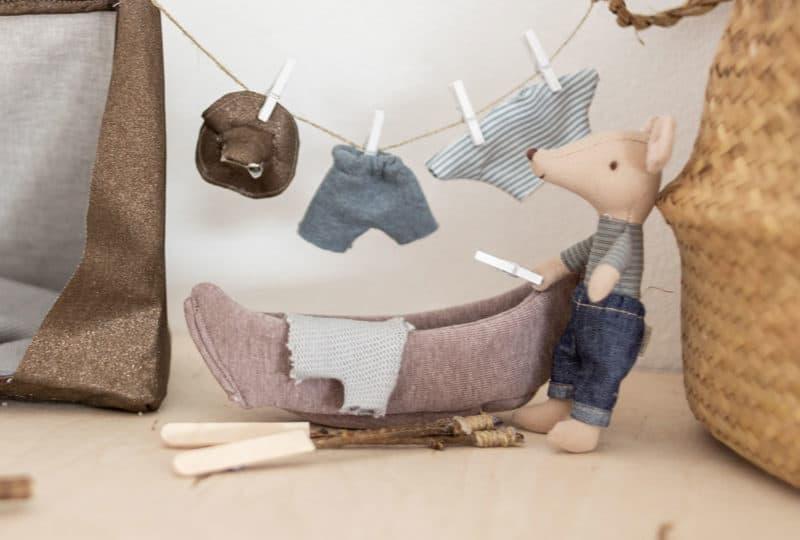 Maileg Mäuse – DIY Kleidung nähen mit Schnittmuster