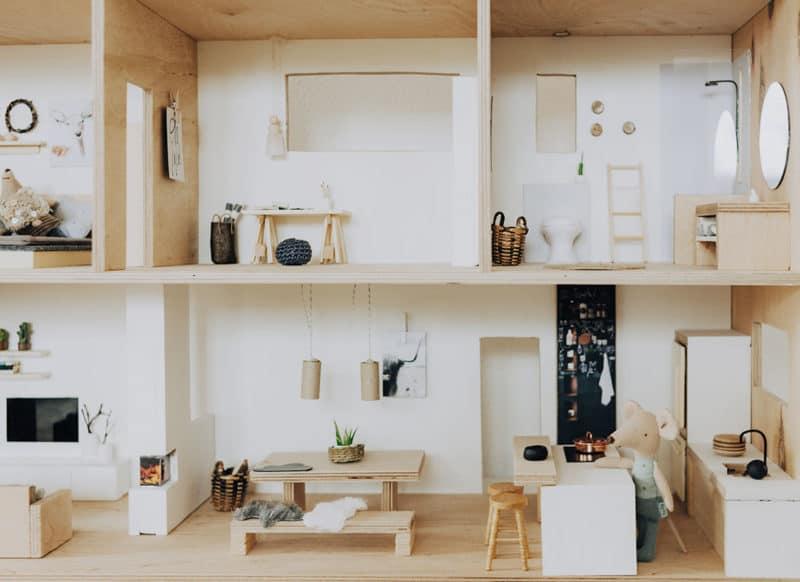DIY Puppenhaus im Scandi Look
