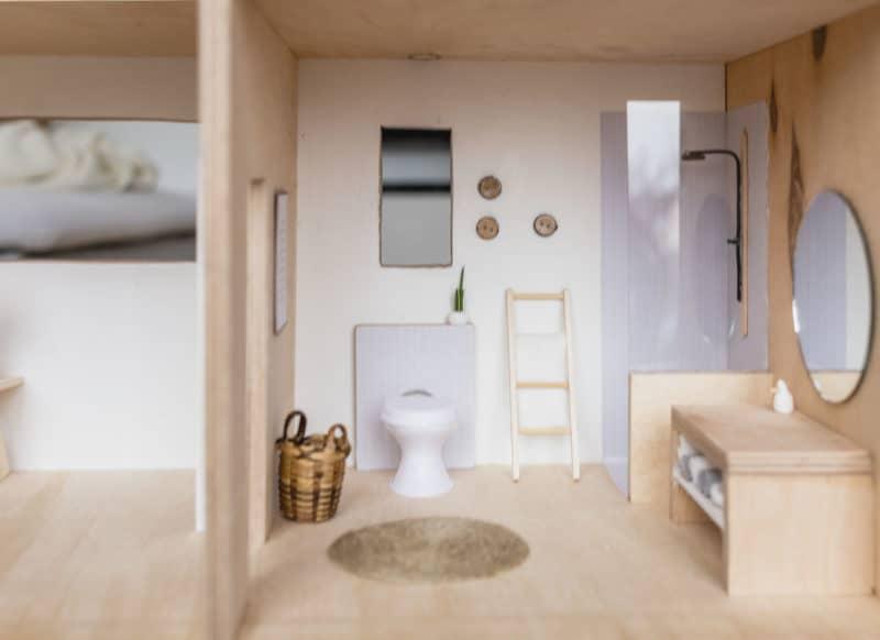 DIY Puppenhaus Badezimmer bauen