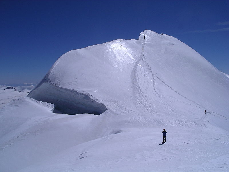 Eastern summit of Breithorn seen from the west