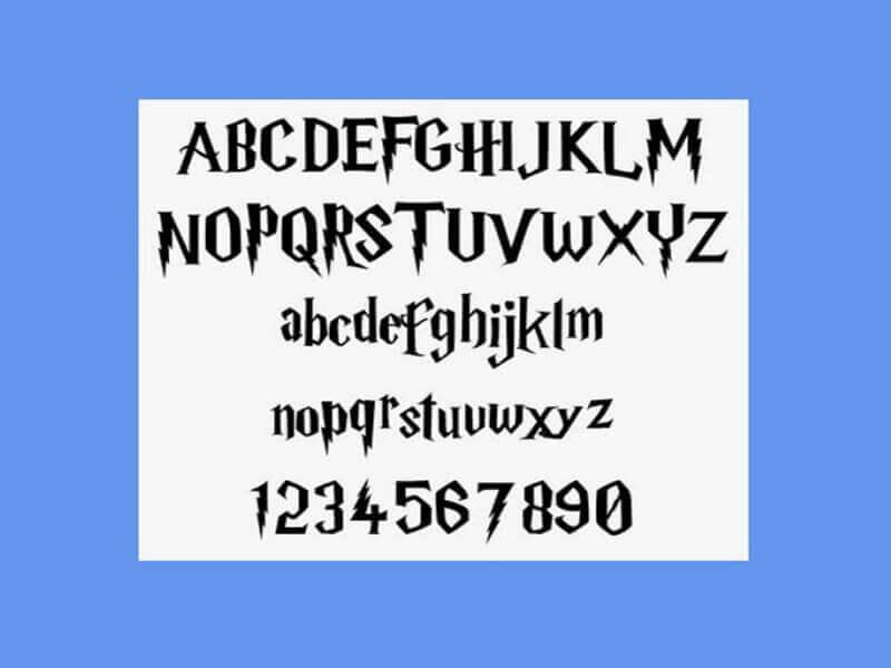 Harry Potter Font Design Download