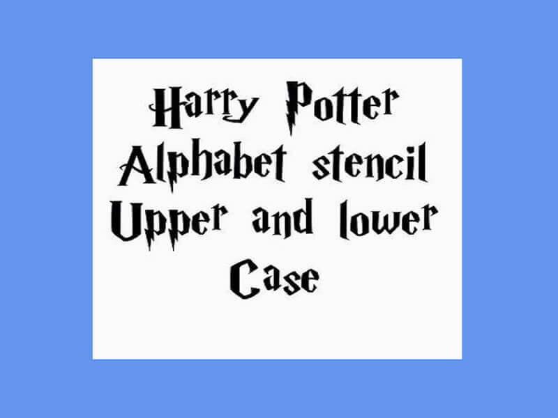 Harry Potter Font Design