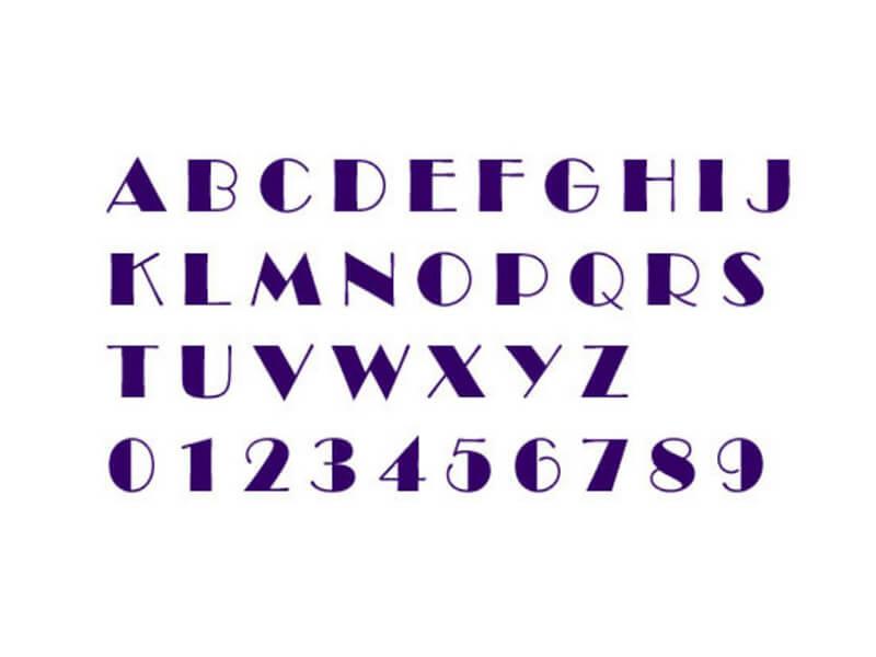 Broadway Font Letters