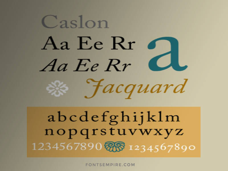 Caslon Font Family Free Download