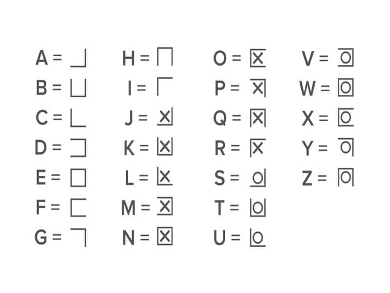 Pigpen Cipher Font Download