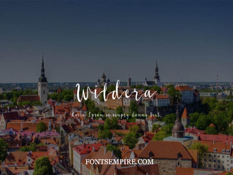 Wildera Font Family Free Download