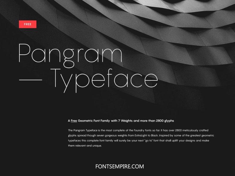 Pangram Font Family Free Download