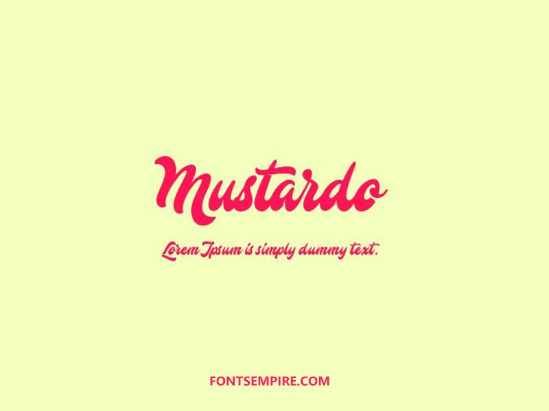 Mustardo Font Family Free Download