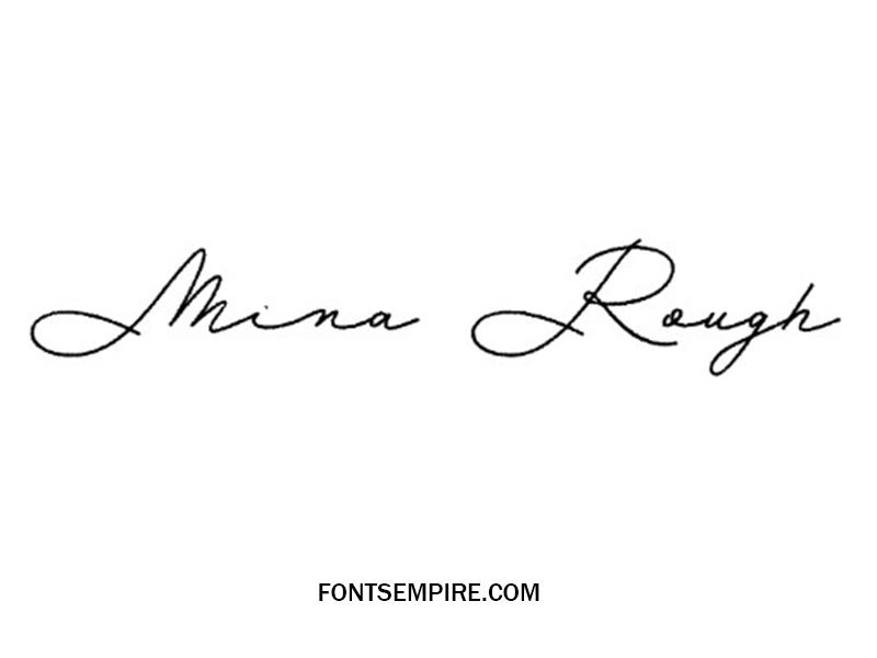 Mina Rough Font Family Free Download