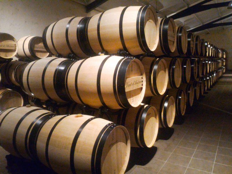 habitaciones donde procesan el vino